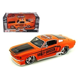 1967 Ford Mustang GT Harley Davidson Orange 1/24 Diecast Model Car by Maisto
