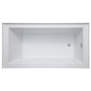 "Mirabelle MIRSKA6032R Sitka 60"" X 32"" Acrylic Air Bathtub for Three Wall Alcove Installations with Left Blower and Right Drain"