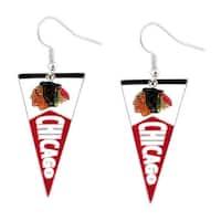 Chicago Blackhawks NHL Pennant Earring