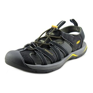 Keen Kanyon Men Round Toe Canvas Black Sport Sandal