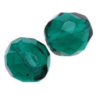 Link to Czech Fire Polished Glass Beads 10mm Round Emerald (12) Similar Items in Jewelry & Beading