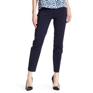 Philosophy Navy Blue Womens Size 8 Slant-Pocket Ankle Dress Pants