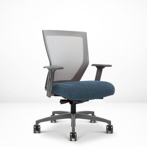 Run II, Ergonomic Mesh Chair, Synchro Tilt, Adjustable Arm, Built-In Natural Lumbar, Grey Frame