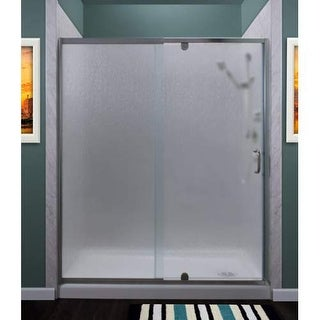 """Miseno MSDR6069 Purify 69"""" High x 60"""" Wide Semi-Framed Pivot Shower Door with Ra"""