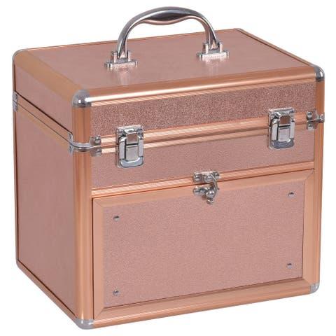 Gymax Nail Accessories Organizer Makeup Case Polish Travel Box Panel