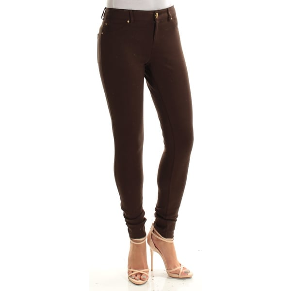 afc5cd886f0f Shop Womens Brown Skinny Pants Size 2 - Free Shipping On Orders Over $45 -  Overstock.com - 22422041