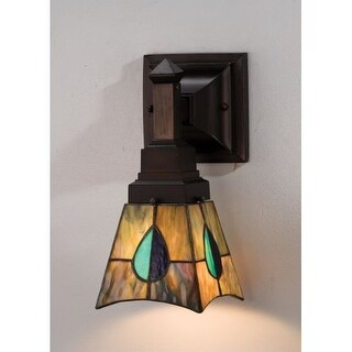"Meyda Tiffany 31229 Mackintosh Leaf 5"" Wide Single Light Wall Sconce"
