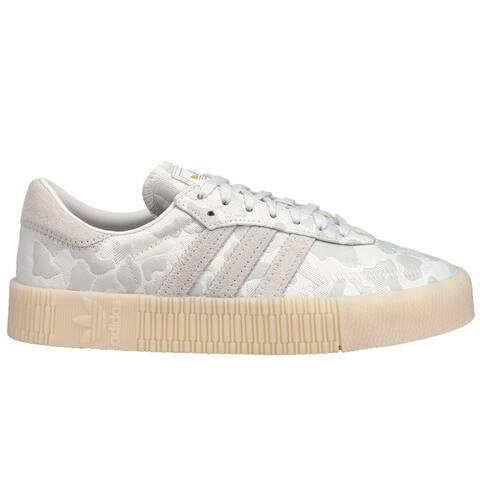 adidas Sambarose Platform Womens Sneakers Shoes Casual - White