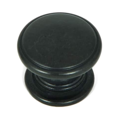 Stone Mill Hardware - Antique Black Saybrook Cabinet Knobs (Pack of 10)