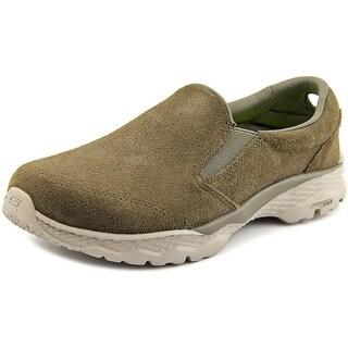 Skechers Go Walk Outdoors Women Round Toe Leather Tan Walking Shoe