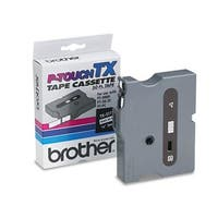 Brother International  0.25 in. Black on White TX Tape Cartridge for