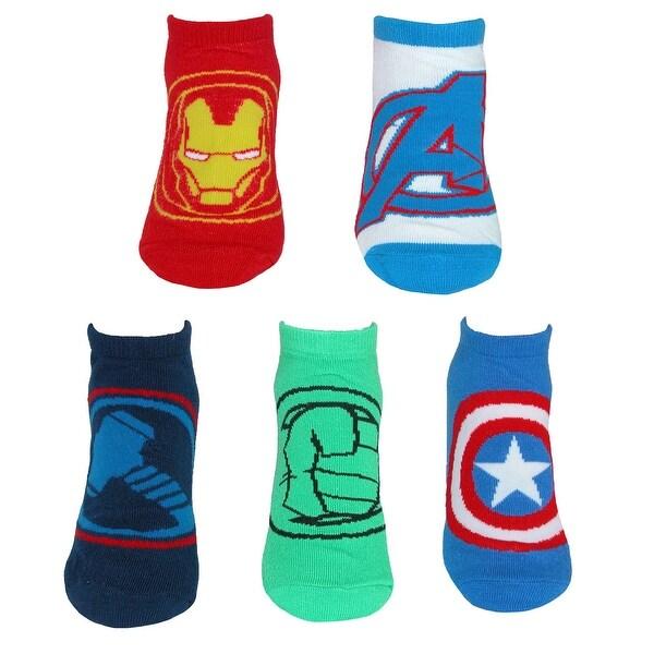 a216773880952 Shop Marvel Boy's Avengers Assemble Low Cut Socks (5 Pair Pack ...