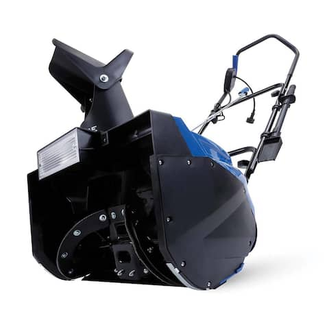 Snowjoe sj623e snow joe corded electric single stage snow thrower 18 in 15 amp motor headlights