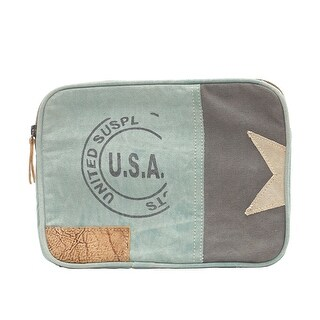 USA Stamp Upcycled Canvas Zippered Tablet Case