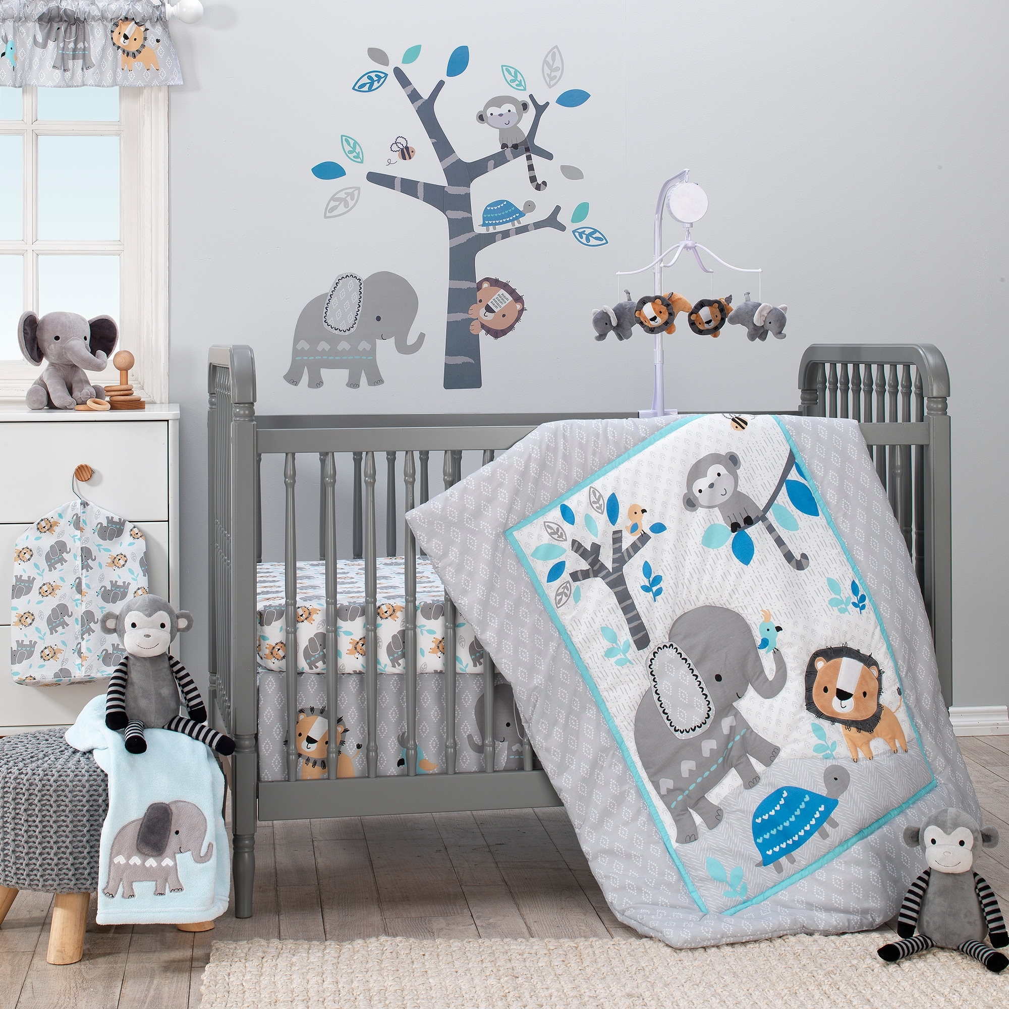 Bedtime Originals Jungle Fun Gray