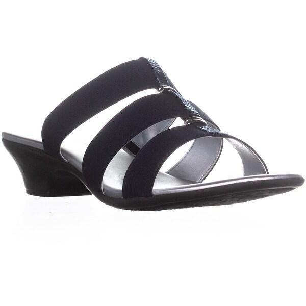 KS35 Erinn Low-Heel Casual Sandals, Navy - 9.5 us