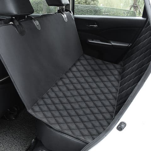 100% Waterproof Pet Seat Cover Car Seat Cover, Scratch Proof & Nonslip Backing & Hammock