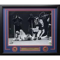 Lawrence Taylor Signed & Framed NY Giants 16x20 Cunningham Sack Photo JSA