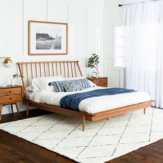 Link to Carson Carrington Blaney Solid Pine Wood Spindle Bed Similar Items in Bedroom Furniture