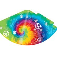 Child Party Hats Tie Dye Fun 8 Pack Cone Hat