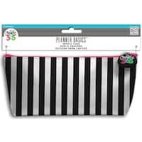 "Black & White - Create 365 Happy Planner Pencil Pouch 3.5""X8.25"""