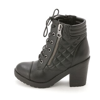 Rampage Women's Harrison Round Toe Ankle Combat Boots
