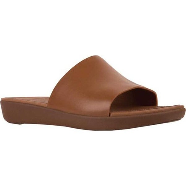 4222fa75476a2 Shop FitFlop Women s Sola Slide Caramel Leather - Free Shipping ...