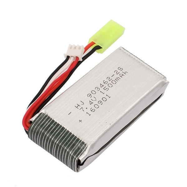 DC 7.4V 1500mAh Silver Tone Rechargable Lithium Battery for RC Aircraft