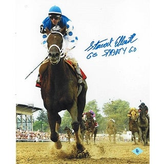 Smarty Jones signed 2004 Preakness Horse Racing 8x10 Photo Go Smarty Go