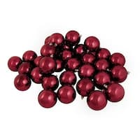 Shiny Burgundy Shatterproof Christmas Ball Ornaments
