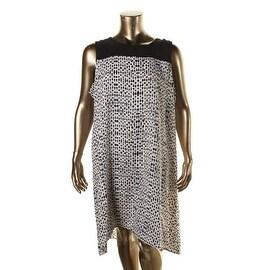 Nic + Zoe Womens Plus Chiffon Sleeveless Casual Dress - 2X