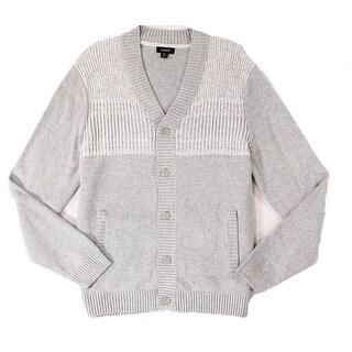 Alfani Heather Mens Large Button Down Cardigan Sweater