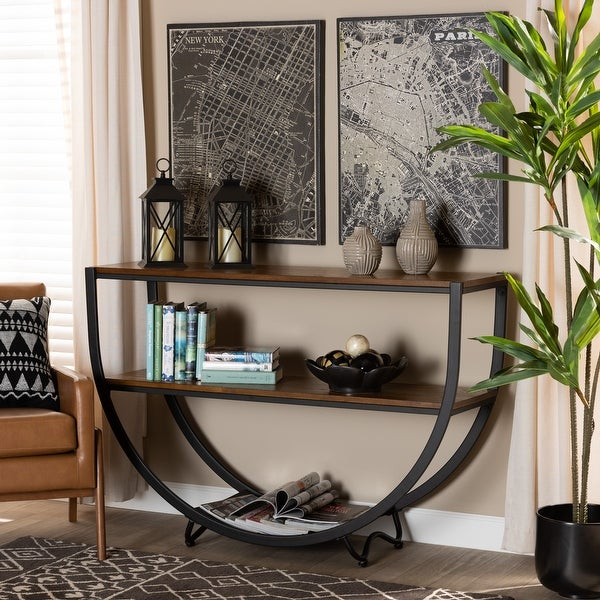 Carbon Loft Cohn Vintage Industrial Console Table. Opens flyout.