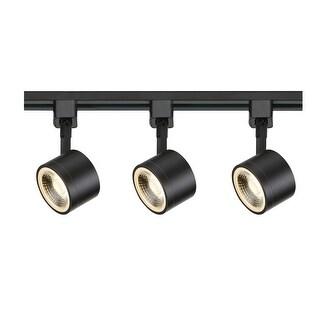 """Nuvo Lighting TK404 3 Light 3"""" Wide LED H-Track Track Kit - Black - N/A"""