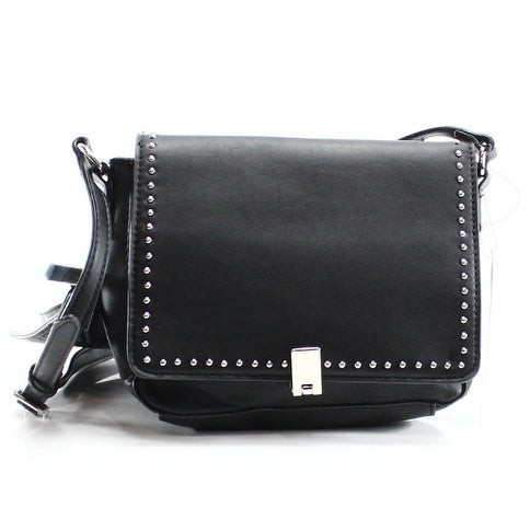 Shop Nine West NEW Black Pleather Interchangeable Flap Gywn Messenger Purse  - Free Shipping On Orders Over  45 - Overstock - 19837586 59232c5007546