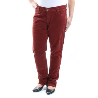 KUT $79 Womens New 1437 Red Courdoroy Boyfriend Casual Pants 16 B+B