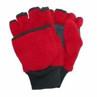 CTM® Kids' and Teens' Fleece Convertible Fingerless Winter Mitten / Gloves