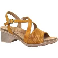 Dromedaris Women's Sienna Slingback Sandal Mustard Leather