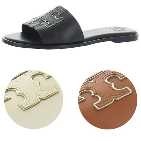 Tory Burch Women's Ines Slide Leather Cushioned Sandals