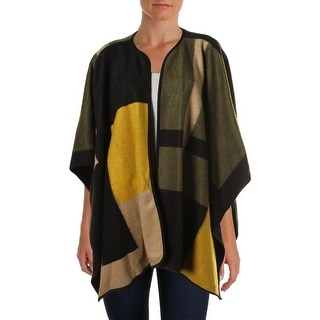 Vince Camuto Womens Wool Blend Blanket Poncho