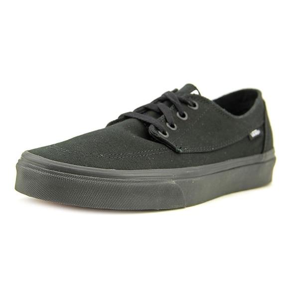 6619519f3b Shop Vans Brigata Men Round Toe Canvas Black Skate Shoe - Free ...