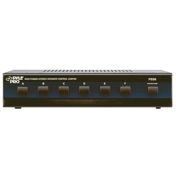 PYLE PRO PSS6 High-Power Stereo Speaker Selector (6 Channels)