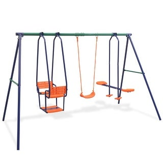 Link to vidaXL Swing Set with 5 Seats Orange Similar Items in Outdoor Play