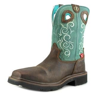 Tony Lama RR3041L Women Composite Toe Leather Blue Work Boot