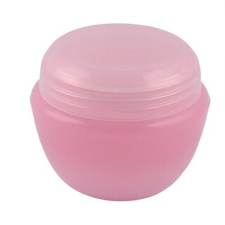 Travel Plastic Cream Container Cosmetic Storage Bottle Organizer Pink 50ml