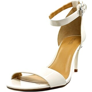 Michael Michael Kors Sienna Md Women Open Toe Patent Leather White Sandals