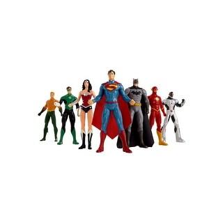 """New 52 Justice League 8"""" Bendable Figure 7pc Box Set"""