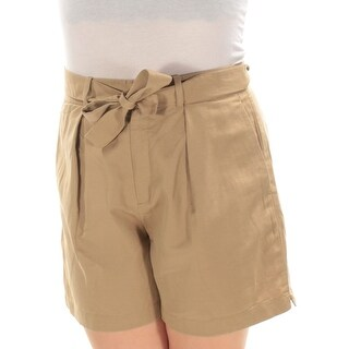Womens Brown Wide Leg Short Size 8