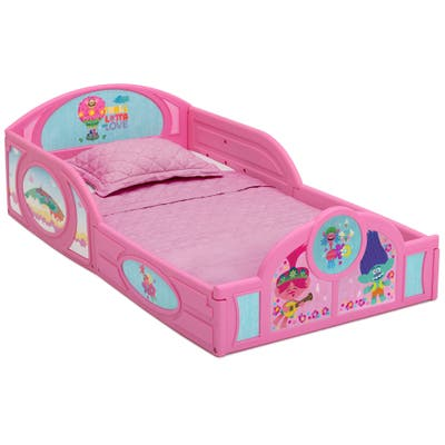 Trolls World Tour Plastic Sleep and Play Toddler Bed by Delta Children