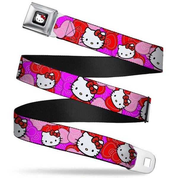 Hello Kitty W Red Bow Full Color Black Hello Kitty Pink Red Bowtie Webbing Seatbelt Belt